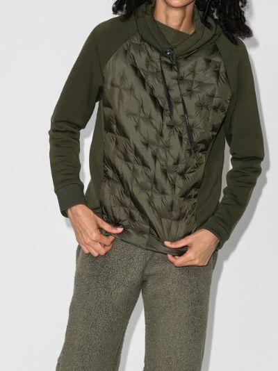 hooded fleece ski top