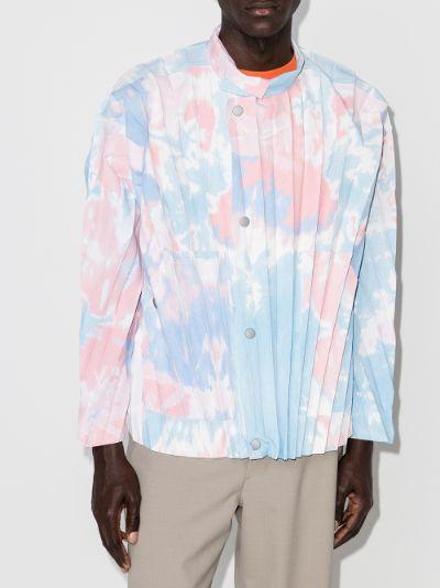 bleach effect pleated jacket