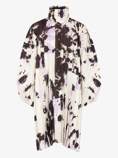 Bleach Like pleated coat