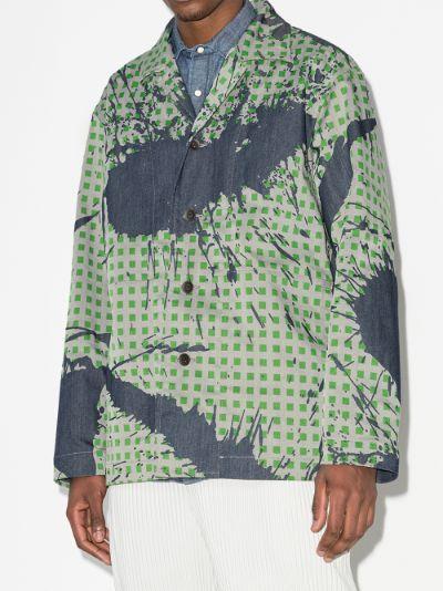 Burnt-Out printed denim jacket