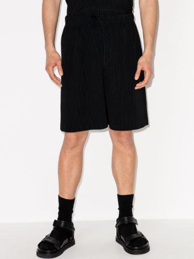 pleated drawstring shorts