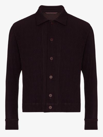 pleated shirt jacket
