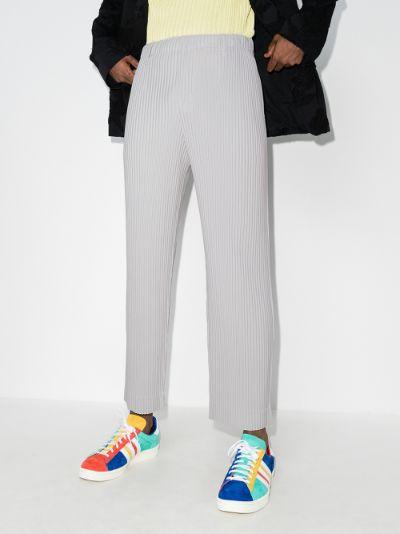 Pleated Straight Leg Trousers