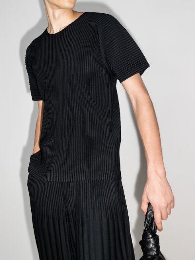 round neck plissé T-shirt