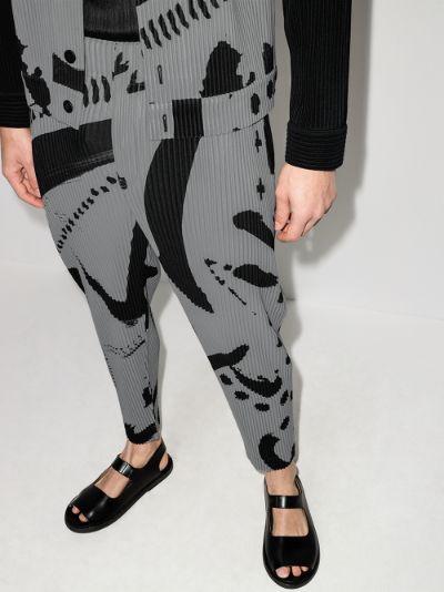 Stroke plissé cropped trousers