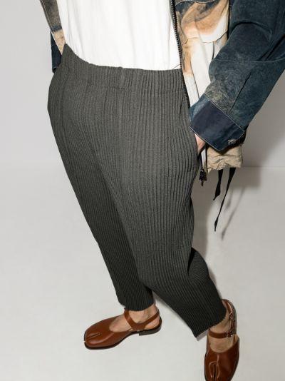 Wool Like Light plissé trousers