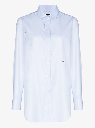X Browns 50 classic button-up cotton shirt