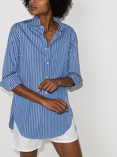X Browns 50 striped cotton shirt