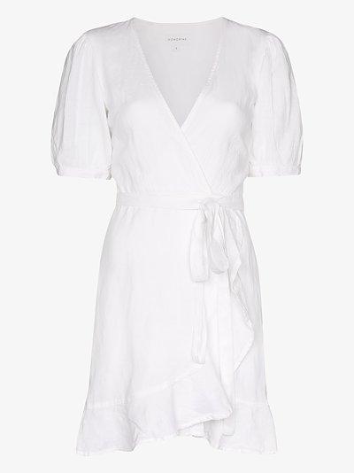 Edie wrap front mini dress