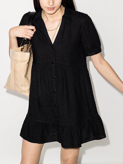 Minnie linen shirt dress