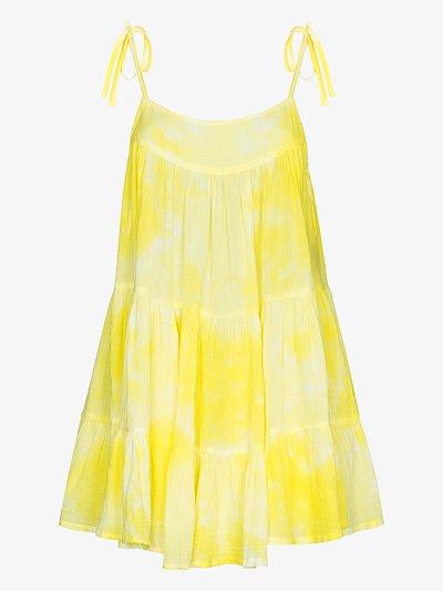 Peri tie-dye cotton mini dress