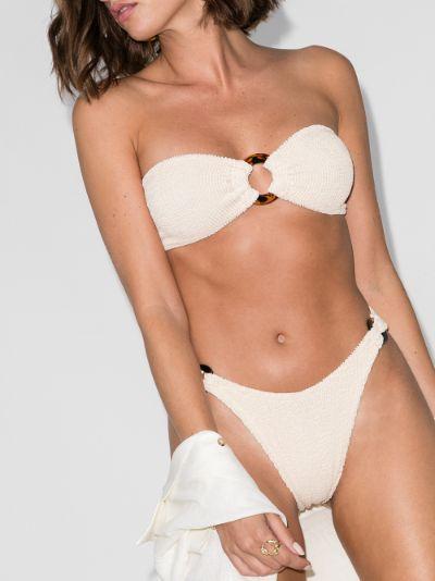 Gloria bandeau crinkle bikini