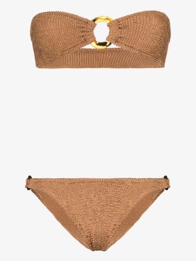 Gloria Crinkle Bandeau Bikini