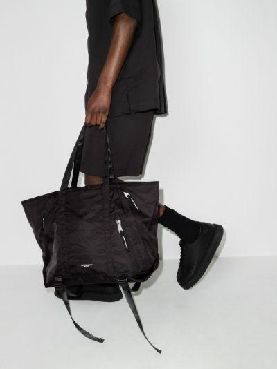 black recycled tote bag