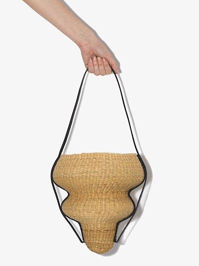 Neutral Akamae N.08 Straw Bucket Bag