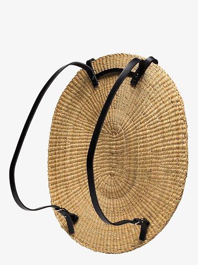 neutral Akamae N.09 straw backpack
