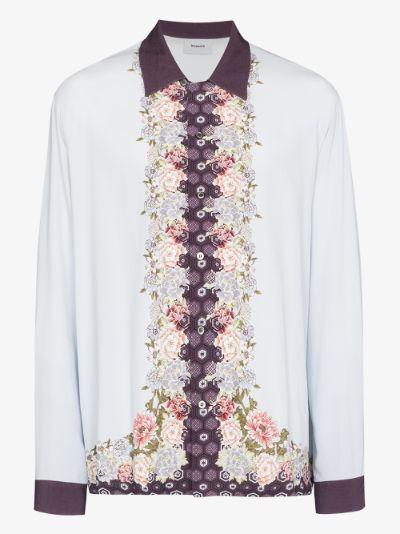 Japanese flower print shirt