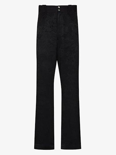 Kimono flared trousers