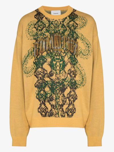 Romantica jacquard knit sweater
