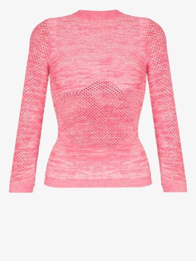 Arcade open knit sweater