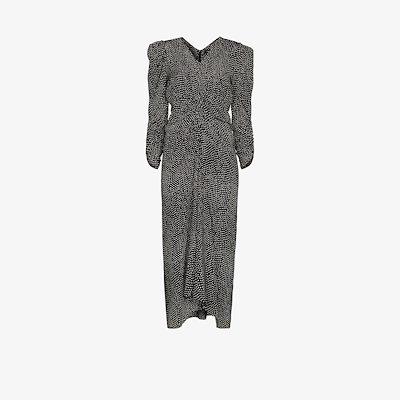 Albi printed silk midi dress