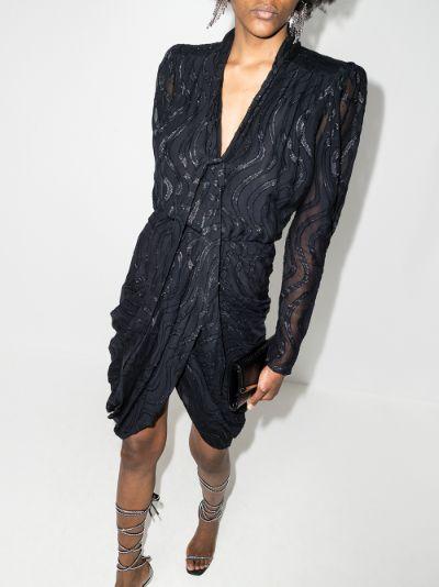 Atoae silk midi dress