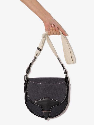 Black Botsy canvas shoulder Bag