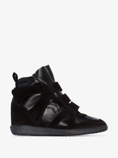 black Buckee 50 suede wedge sneakers