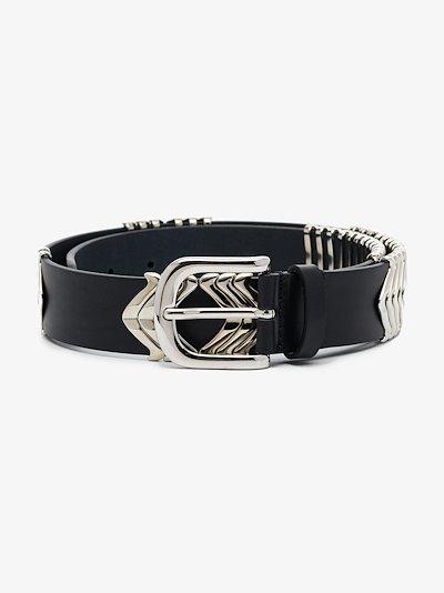 Black Buckle Leather Belt