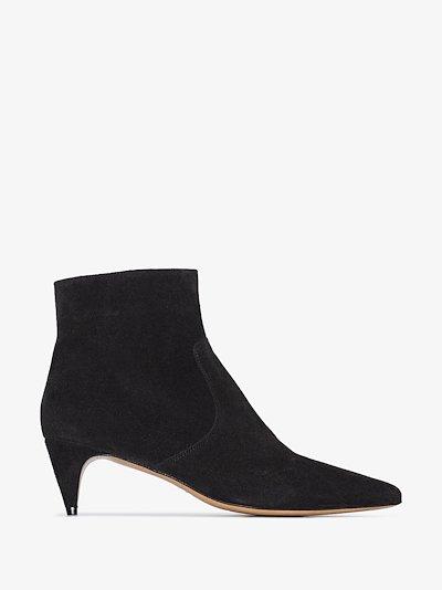 black Derst 35 suede ankle boots