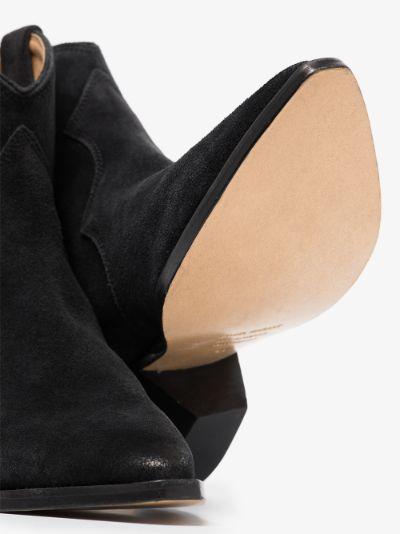 Black Dewina 40 Suede Western Boots