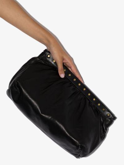 black Luz leather clutch