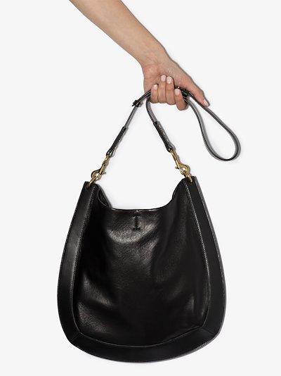 black Moksan leather shoulder bag