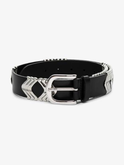 black Tehora leather belt