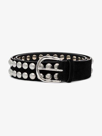 black Zaf studded suede belt