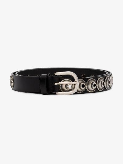 Black Zappi eyelet leather belt