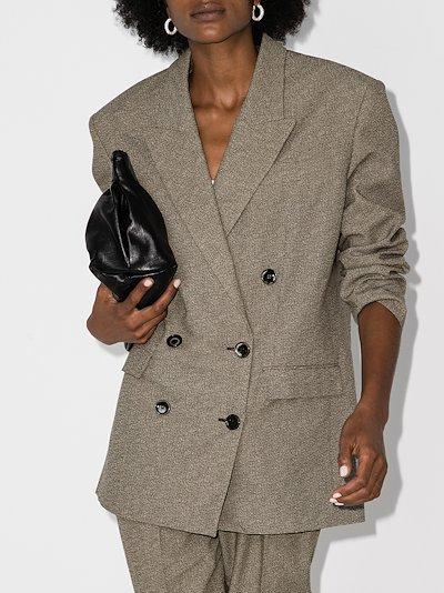 boxy double-breasted blazer