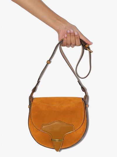 brown Botsy suede shoulder bag