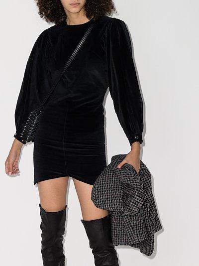Dilavio velvet mini dress