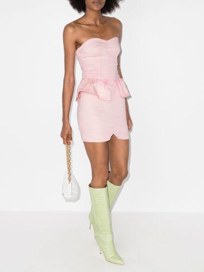 Dolizi bandeau peplum mini dress