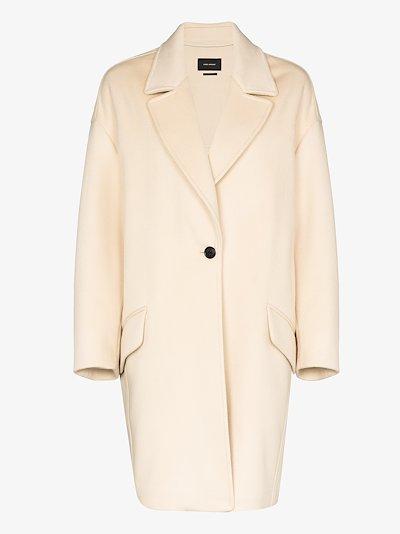 dropped shoulder cocoon coat