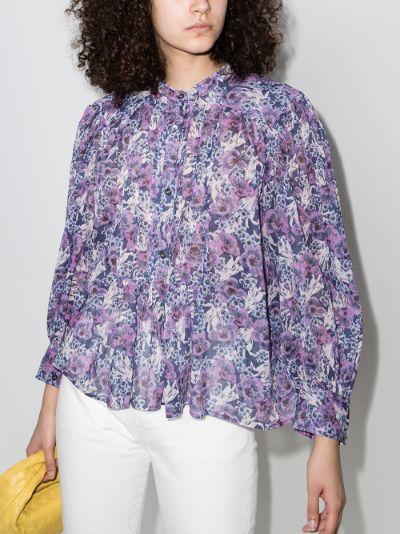 Adriga floral puff sleeve blouse
