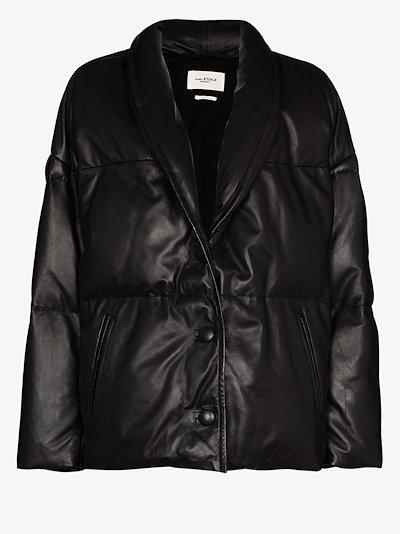 Carterae leather puffer jacket