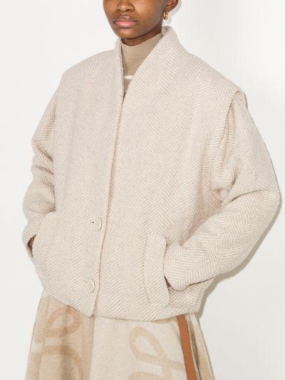 Drogo collarless herringbone jacket