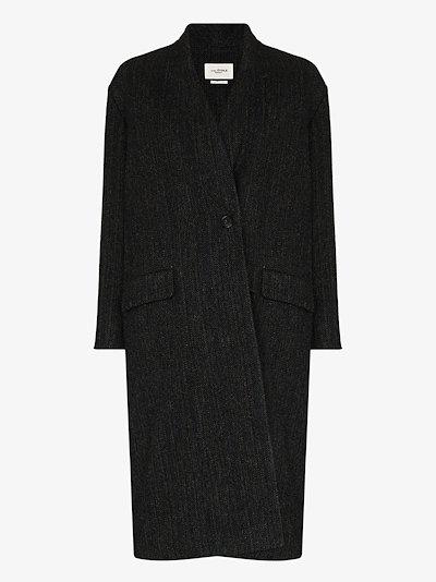 Henlo single-breasted wool coat
