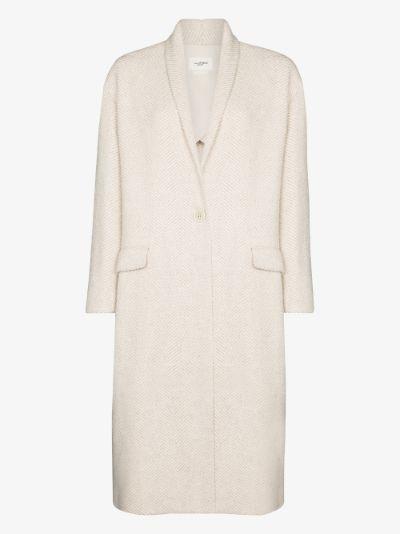 Henol single-breasted coat