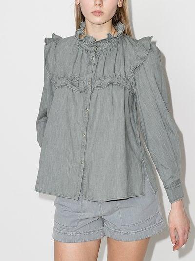 Idety ruffle trim blouse