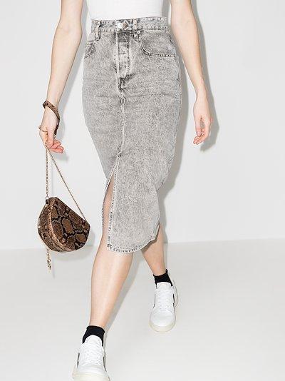 Laurina front slit denim skirt