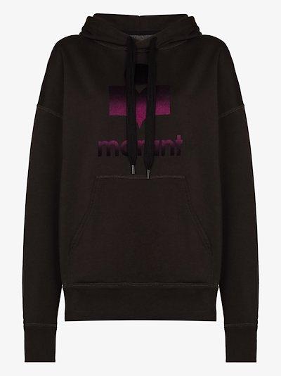 logo-print oversized hoodie