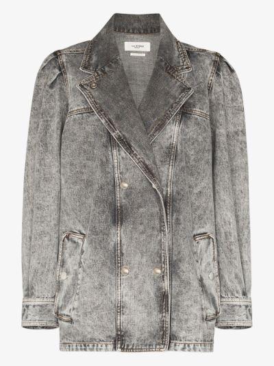 Lucinda double-breasted denim jacket